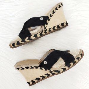 UGG Margot platform wedge slide sandal S/N 1689